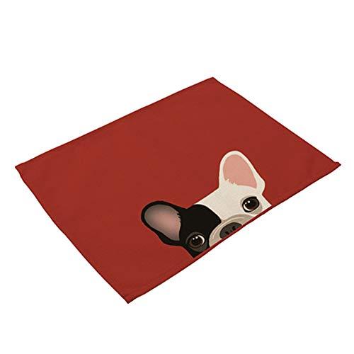LAAT Mantel Individual con Patrón de Lindo Mascota Placemat para Decoración de Hogar Size 42cm*32cm