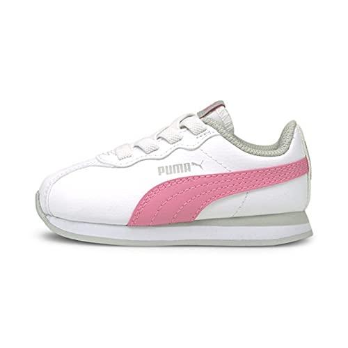 PUMA Turin II AC Toddler Shoes in White/Sachet Pink, 7 Toddler M