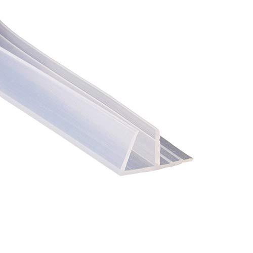 Mintice Junta para puerta de baño de ducha con panel de goma curvada, parte inferior de cristal de goma, 10 mm, forma de F