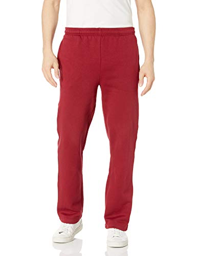 Amazon Essentials Men's Fleece Sweatpants, Red, Medium