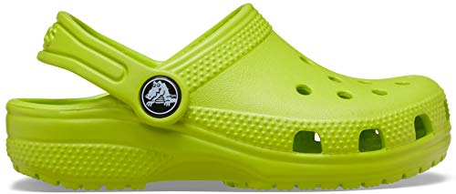 Crocs Kids' Classic Clog | Slip On Shoes for Boys and Girls | Water Shoes, Lime Punch, J2 US Little Kid