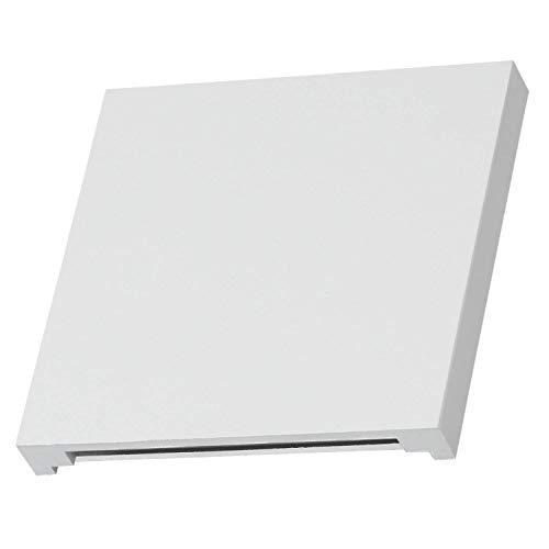 LED Treppenbeleuchtung ALU aus Aluminium in eckig für Schalterdoseneinbau 68mm - Warmweiß 3000K - Farbe weiß [Stufenbeleuchtung - Wandbeleuchtung - indirekt]
