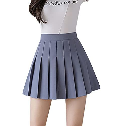 Falda Negra Blanco Faldas Mujer Falda Asimetrica Mujer Falda Acampanada Mini Falda Faldas Tallas Grandes Falda Uniforme Falda Piel Falda Vaquera Larga Falda Colegio Falda Gris M