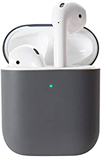 DamonLight Upgrade AirPods Case Protective Cover [Front LED Visible] Airpods Accessories Silicone Compatible with Apple Ai...