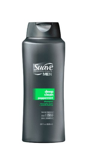 Suave Professionals Mens, Shampoo, Deep Clean Peppermint, 28oz