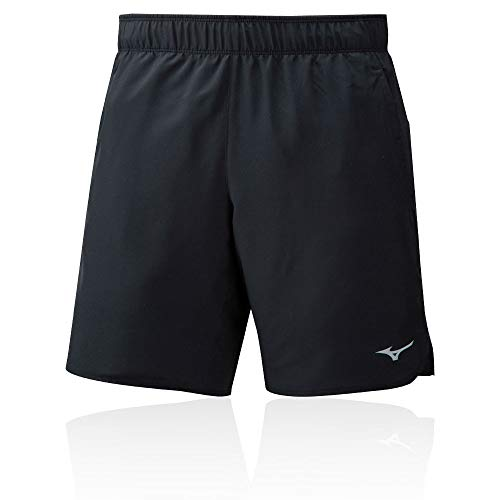 Mizuno Pantalones Cortos Core 7.5 2 en 1 para Hombre, Color Negro, Mediano