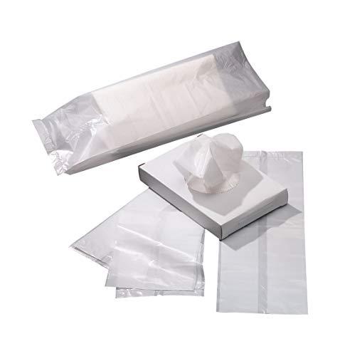 Hygienebeutel Universal, Material HDPE, mit Seitenfaltung, flüssigkeitsdicht verschweißt, Stärke 12 my, weiß, 750 Stück
