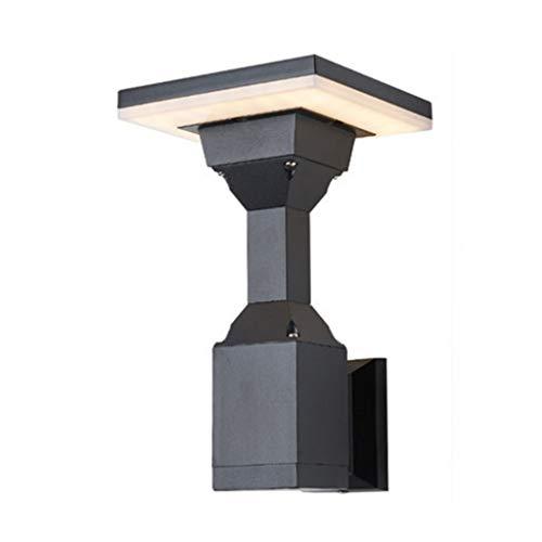 SSMDYLYM Lámpara de Pared LED Impermeable Moderna lámpara de Pared Exterior Escalera Creativa balcón terraza Patio Pared Exterior Pasillo lámpara de Pared