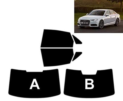 Láminas Solares para Tintar Las Lunas del Coche-Audi A4 4-Puertas Sedán 2015-. Ventanas Traseras & Luna Trasera (35% Medio Ahumado, B)