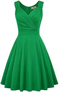 GRACE KARIN Mujer Vestido Elegante Años 50 Vestido de Mujeres Rockabilly Clásico L CL010698-4