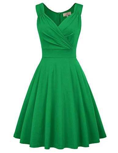 Kleider cocktailkleider grün Elegante Kleider a Linie Rockabilly Kleider Vintage Kleid CL698-4 XL