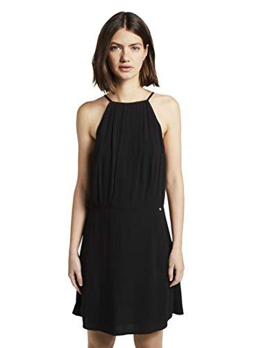 TOM TAILOR Denim Damen Kleider & Jumpsuits Neckholder-Kleid mit Spitze Deep Black,M