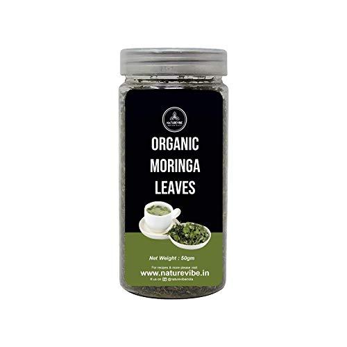 Organic Moringa Leaves (50gm) by Naturevibe Botanicals | Dried Leaves | Best for Tea Making | Herbal Tea | Fresh Aroma