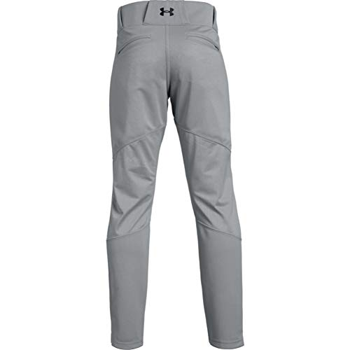 Under Armour Boys' Ace Relaxed Pants , Baseball Gray (080)/Black , Youth Small