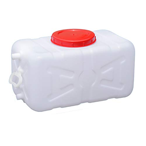 MORN White Water Container,Outdoor Square Water Storage Bucket,Food-Grade Water Storage Container with Lid,for Home & Commercial