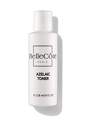 10% Azelaic Acid Rosacea Relief Acne Toner - 2% Salicylic Acid, Tea Tree Oil, Witch Hazel & Soothing Calendula 4 oz - BelleCote