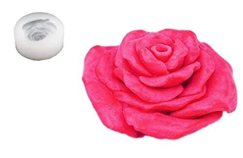 Siliconen mal voor ambachtelijk gebruik middelgrote grote roze bloem - ook geschikt voor zeep