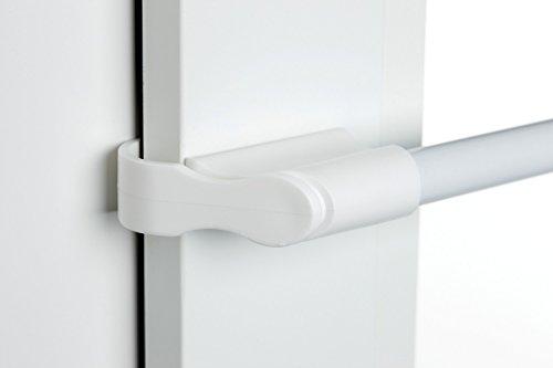 cg-sonnenschutz Klemmstange weiß Ø 10/12mm 50-75 cm oder 75-125cm für Fenster für Scheibengardinen, Spannvitrage, Vitragestange für Fenster (75-125 cm)