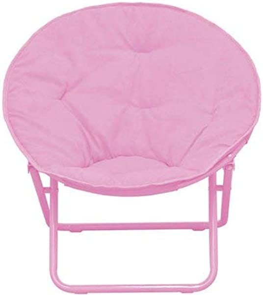 American Kids Bedding WK656330 Solid Faux Fur Saucer Chair Polyester Fabric Content Pink