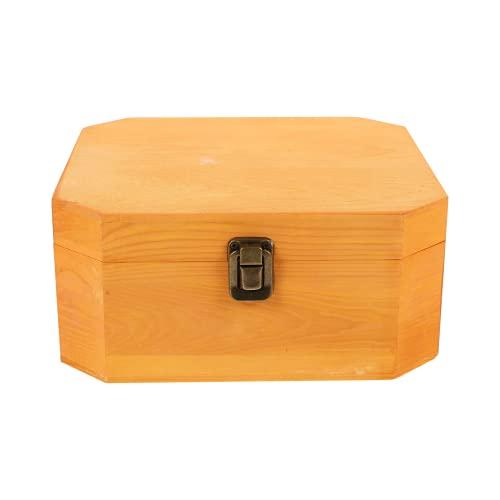 KESYOO Caja Organizadora de Joyas Caja de Baratijas de Madera Aparador con Cerradura Caja de Almacenamiento Superior de Recuerdo de Baratijas Antiguas Caja Organizadora de Joyas Relojes
