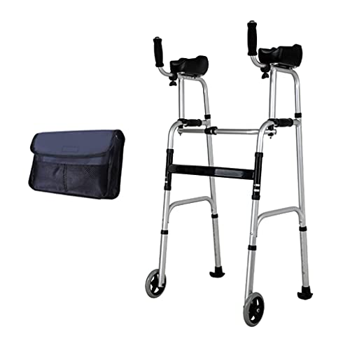 Andador Mayores,Andador De Bipedestación,Plegable Movilidad Ayuda A Caminar,2 Ruedas,Andador para Ancianos Sin Ruedas,Material:aleación De Aluminio Puede Soportar 400ib