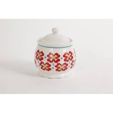 Pioneer Woman Flea Market Stoneware Sugar Bowl & Lid by The Pioneer Woman