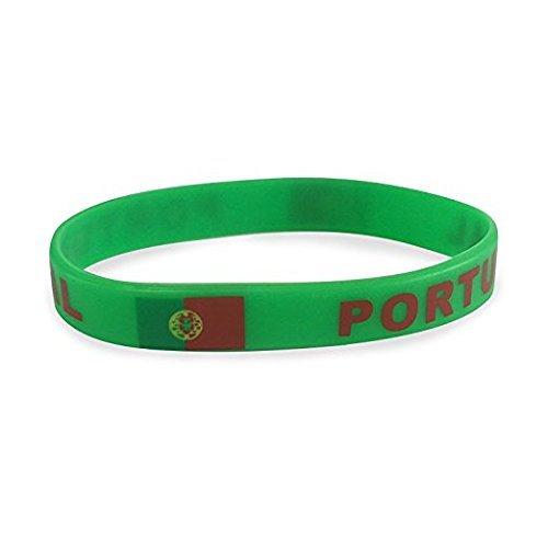 TRIXES Bracelet Portugal Silicone Coupe du Monde Jeux Olympiques Événement Sportif