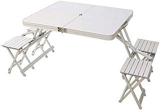 طاولة قابلة للطي معدن - لون ابيض