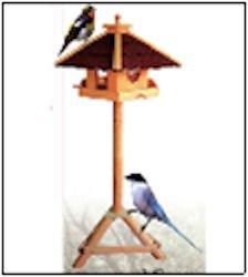 Vogelhaus PIEPMATZ + Ständer Futterhaus Vogel Haus Vogelfutterhaus Vogelhäuschen
