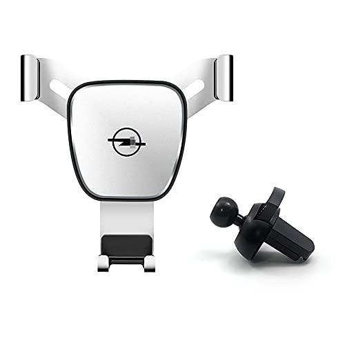 Soporte para teléfono de coche, soporte de clip de ventilación de aire para teléfono móvil, con logo, soporte para Opel Astra H G J Insignia Mokka Zafira Corsa Vectra C D