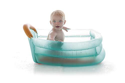 Jané Bañera Hinchable 3 Posiciones, Uso desde Recién Nacido, Capacidad de 30 litros, con Separador y Reposacabezas