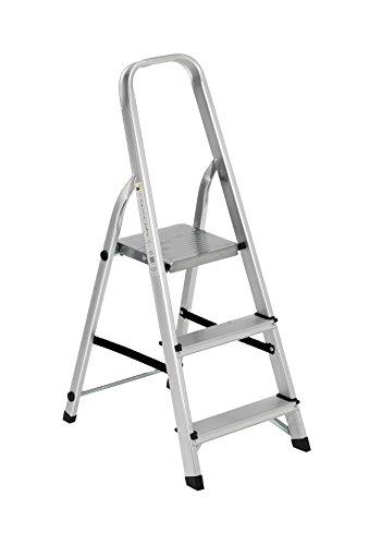 Scala alluminio Everest 3 gradini Per uso domestico e bricolage Portata max 150 kg.