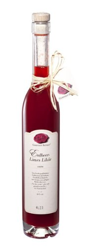 Berners Feinkost Delikatessen Erdbeer-limes -Likör 0,2 l