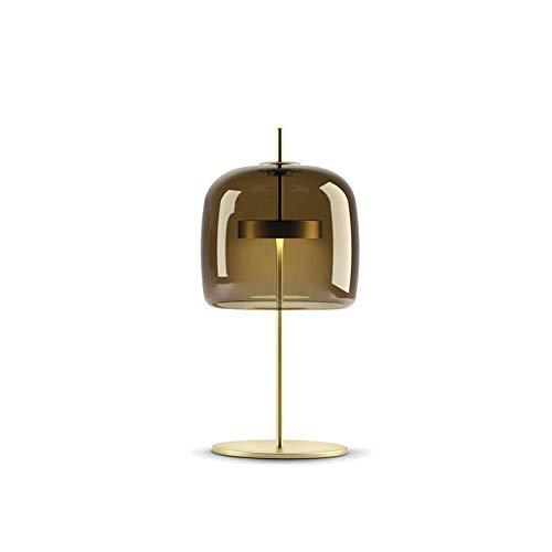 WZHZJ Nordic llevada Moderna lámparas de Escritorio Simple Biblioteca Salón Dormitorio de Noche Escritorio Luces Creativo diseñador de Cristal Lámparas de Mesa Decoración