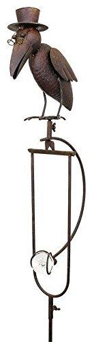 Windspiel für den Garten - Motiv: Rabe - Länge 150cm - Hochwertiger Gartenstecker