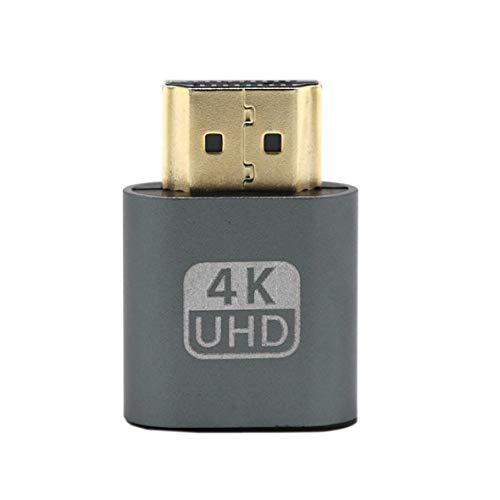 Heaviesk VGA HDMI Dummy Plug Emulatoradapter für virtuelle Anzeigen DDC Edid-Unterstützung 1920x1080P für Grafikkarte BTC Mining Miner