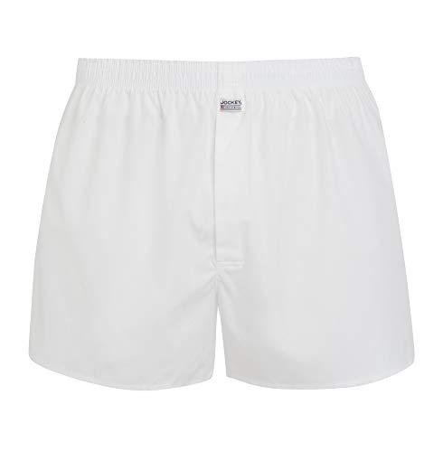 Jockey Everyday Woven Boxer Short, White, M,M,Weiß