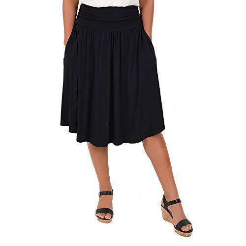 Stretch is Comfort Women's Plus Size Pocket Skirt Black 3X