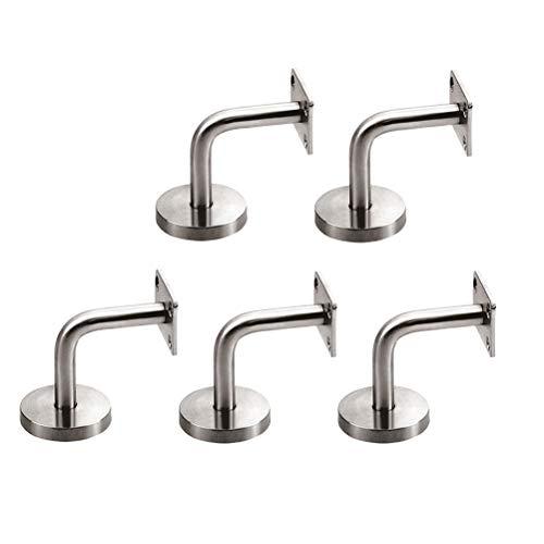BESTOMZ Handlaufhalter aus Edelstahl für Treppenwand, 5 Stück