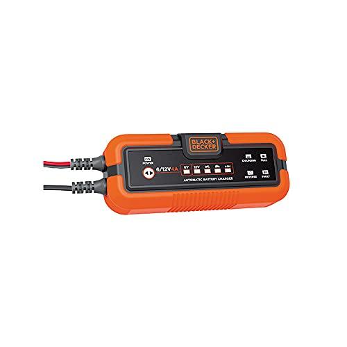 Black and Decker BXAE00022 Cargador y Mantenedor de Batería Moto Coche 6-12V 120Ah hasta 4 Amp