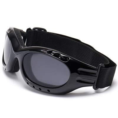 NSGJUYT De Sol del Deporte UV400 Gafas Ciclismo MTB Bicicleta de Carreras de esquí a Prueba de Viento Gafas de Deporte al Aire Libre Eyewear Hombres Mujeres (Color : Black)