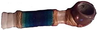 Terrapin Trading Ltd Fair Trade 10cm South American Indian Llama Bone and Nut Smoking Pipe