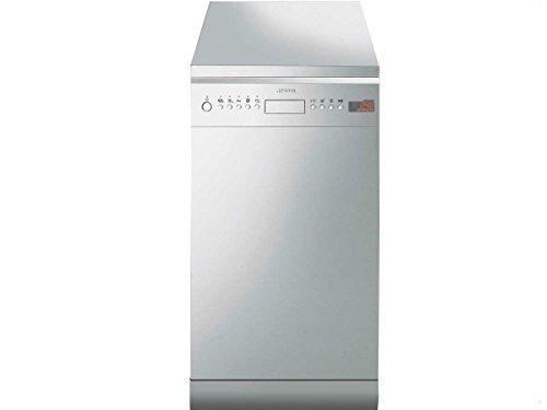 Smeg LSA4525X Autonome 10places A++ lave-vaisselle - Lave-vaisselles (Autonome, Acier inoxydable, 10 places, 44 dB, 175 min, Auto 45-65 ºC, Délicat, Économie, verre/délicat, Intensif, Normal, Pré-lavage, Rapide)
