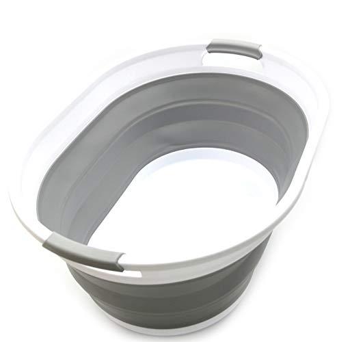 cesta de lavandería plegable (Gris)