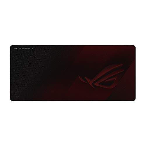 ASUS ROG Scabbard II Extended Gaming Mouse Pad | Nano Technology Smooth Glide Tracking | Protective Coating for Water, Oil, Dust-Repelling Surface | Anti-Fray Flat-Stitched Edges | Non-Slip Rubber Bas