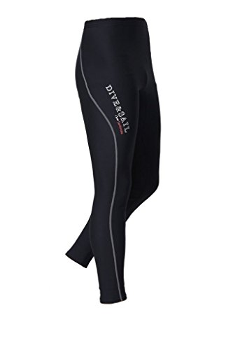 DIVE & SAIL Men's Wetsuit Pants 1.5mm Neoprene Diving Snorkeling Scuba Surf Canoe Pants (Grey Trim, Small)