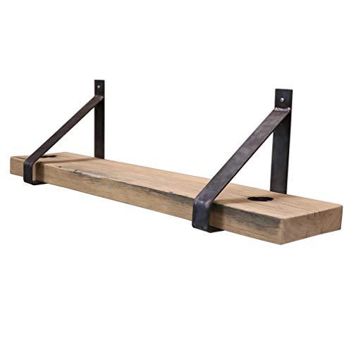Steigerhoutpassie - Stalen plankdrager - Set - Oud Eiken - Wagondeel Breed Geschaafd - 90cm
