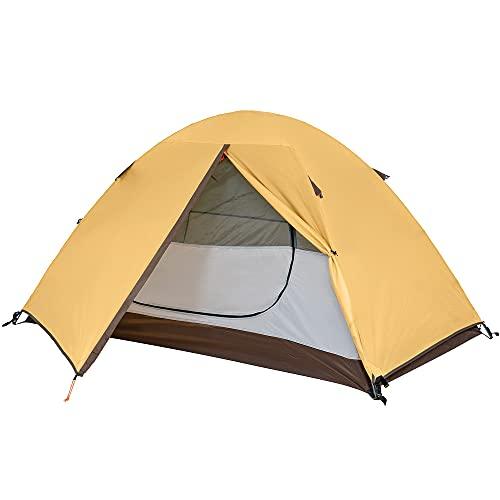 TOMOUNT テント ソロキャンプ 1-2人用 二重層 自立式 耐水圧3000mm 通気 防風 軽量 コンパクト バイク アウトドア 登山用 簡単設営 4シーズン キャンピング ソロテント