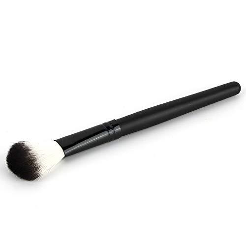 Maquillage Pinceau blush Unique Pôle long Noir et blanc Cheveux en nylon Outils de beauté Fondation Mélange Voyage Visage Contour Doux Grand Séchage Tête ronde,Black
