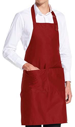 vanVerden - Premium Schürze - Rot Blanko - Rote Latz-Schürze